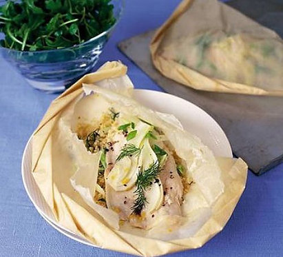 Trout & fennel parcels