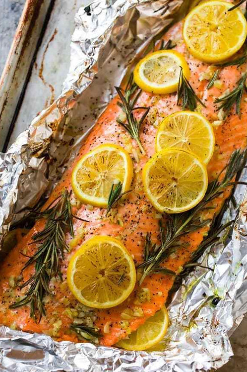 Baked side of salmon / trout
