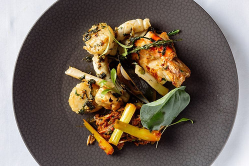 Atul Kochhar's mixed seafood & masala spring onions