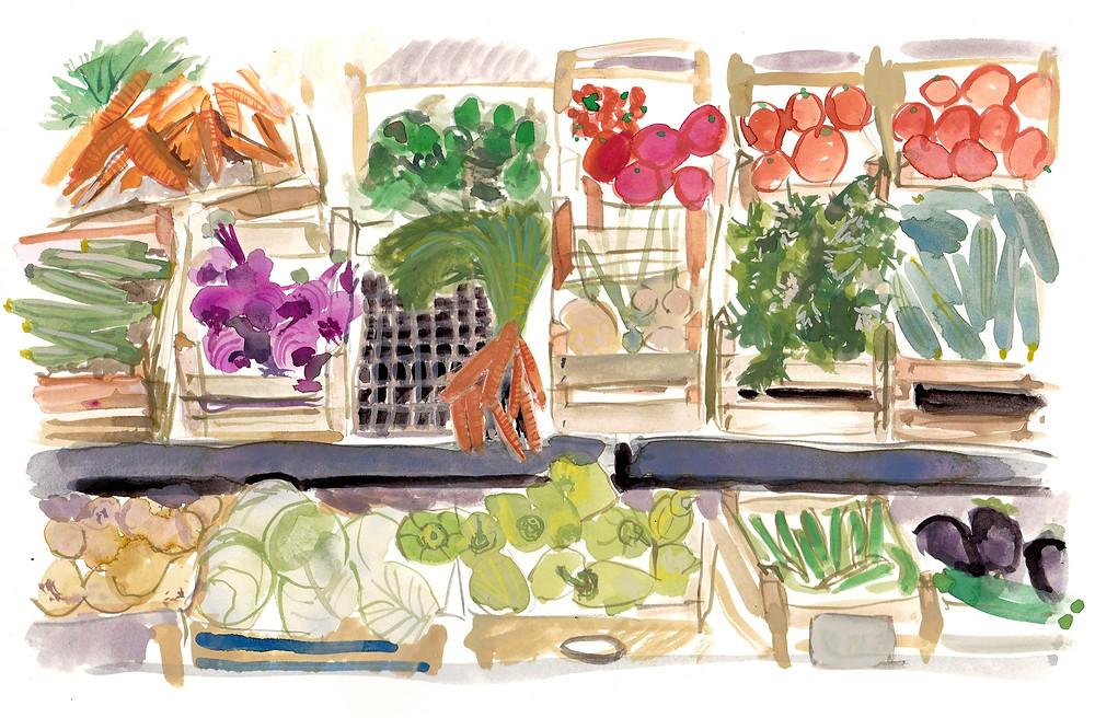 Illustration of Florence Road Farmer's Market