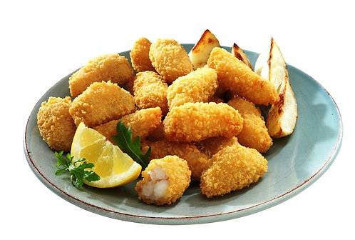 Frozen breaded scampi tails