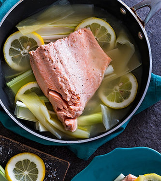 Quick shallow-poached trout