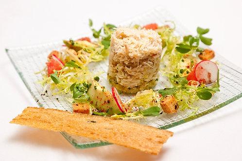 Crab salad with grapefruit