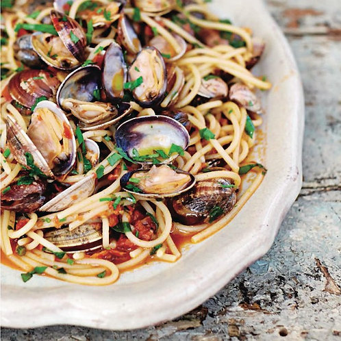 "Jamie's spaghetti vongole (""spaghetti with clams"")"
