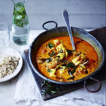 Jamie's Sri Lankan-style monkfish curry