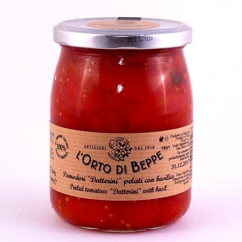 Cherry plum tomato sauce