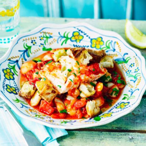 Store-cupboard fish stew