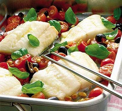 Roasted fish Italian style