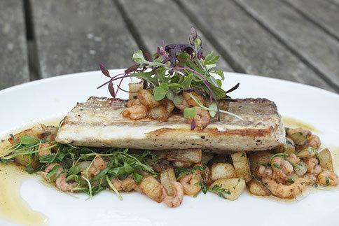 Grey mullet, brown shrimp, tarragon and new potatoes