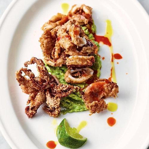 Jamie's crispy squid & smashed avo