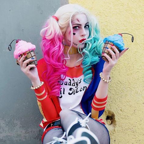 Harley Quinn Cupcake Grenades