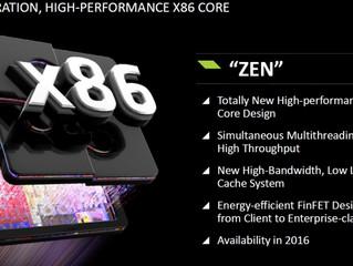 AMD готовит микропроцессоры Zen с четырьмя, шестью и восемью ядрами