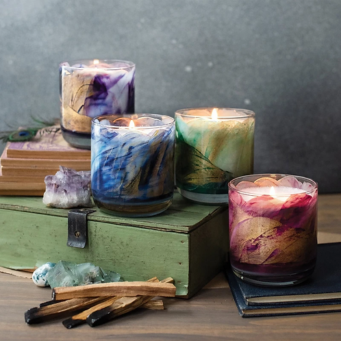 Wax Painted Meditation Candles