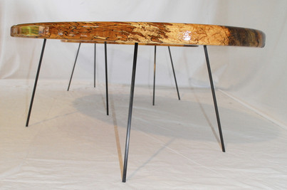Solid spalted beech coffee tables.