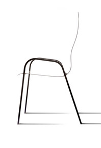 Seat of the chair measures 3mm in thickness.