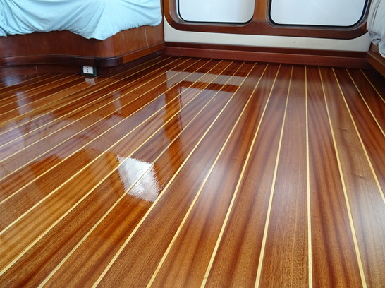 New sepele and boxwood floor. Gloss or satin?