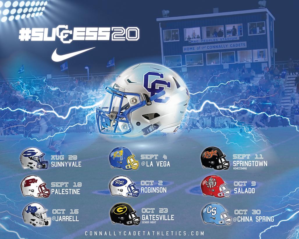 Football Schedule Poster 2020Artboard 1@