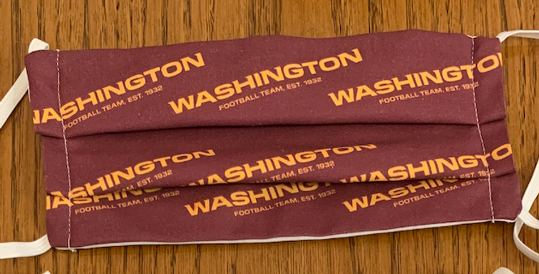 Washington Football Team Mask