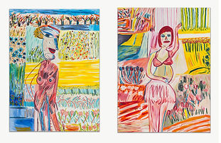 """Martin Maloney shows his series """"Field Workers"""" for the first time at JGM, London"""