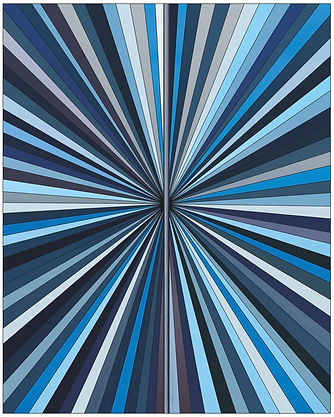 Andrea Hamilton, Horizon Burst, Blue, pigment prints on alu-dibond