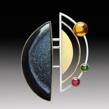 Brooch : Orbit the Moon