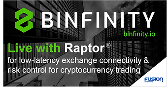 Binfinity and Fusion partner to provide low-latency execution and risk control for cryptocurrency trading