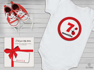 Stickers and box design for baby's first year
