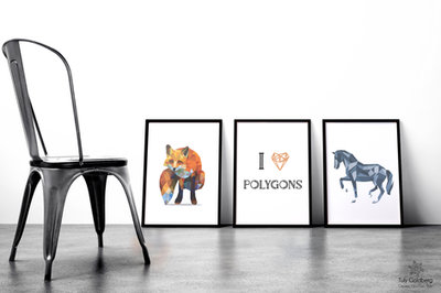 Polygon art illustration