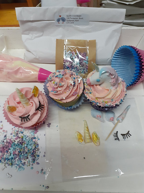New, Extra special Unicorn cupcake kit