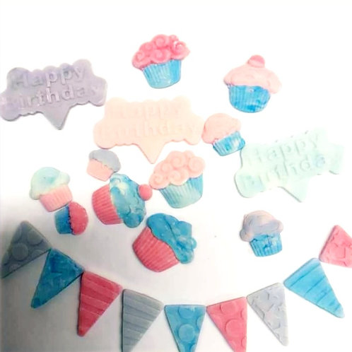 Birthday Bunting Funfetti Cupcake Kit