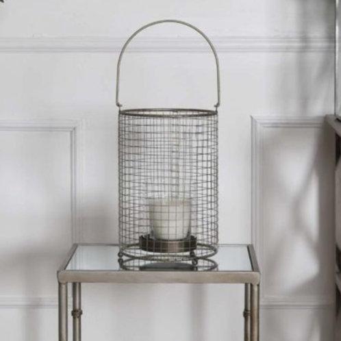 Claude Basket Hurricane Lantern