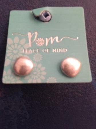 POM 925 Silver Plated earrings.