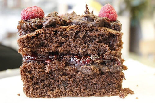 Contrary Choc and Raspberry Cake