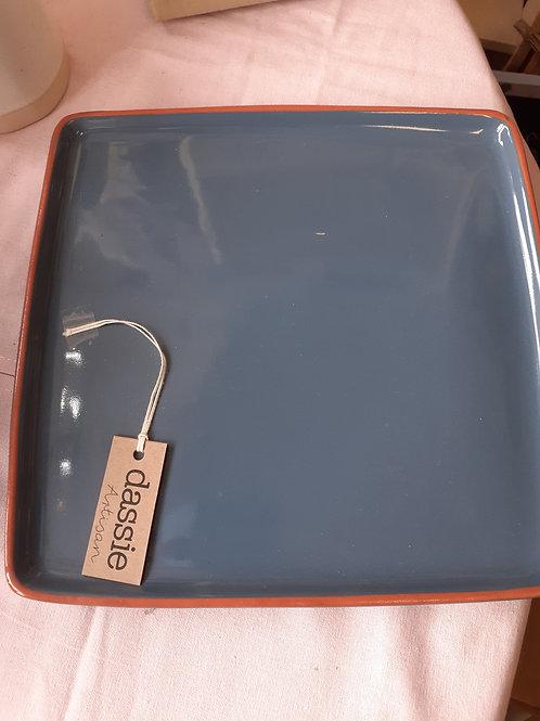 Dassie blue square Bento Tray