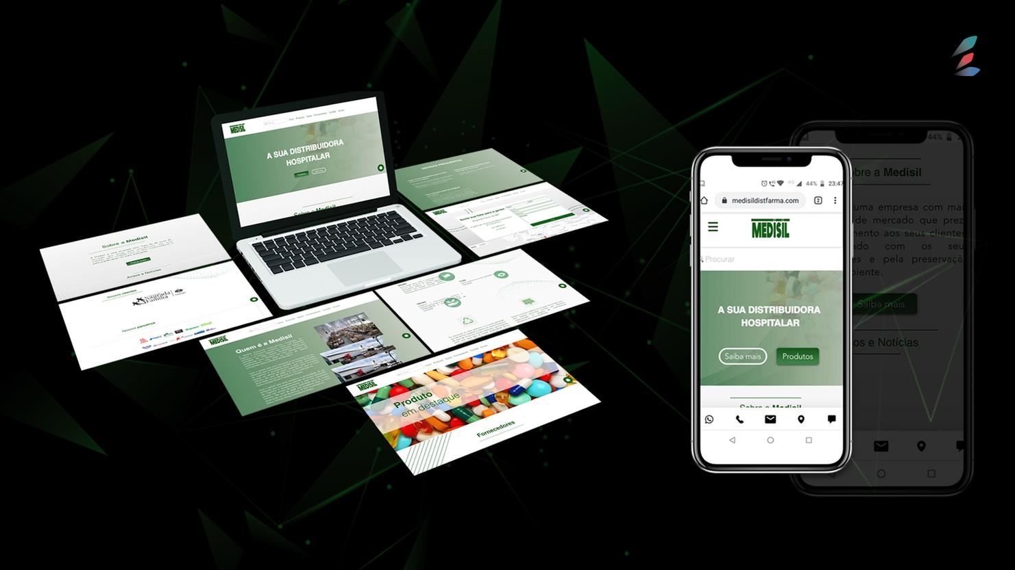 Hot Site desenvolvido para empresa Medisil