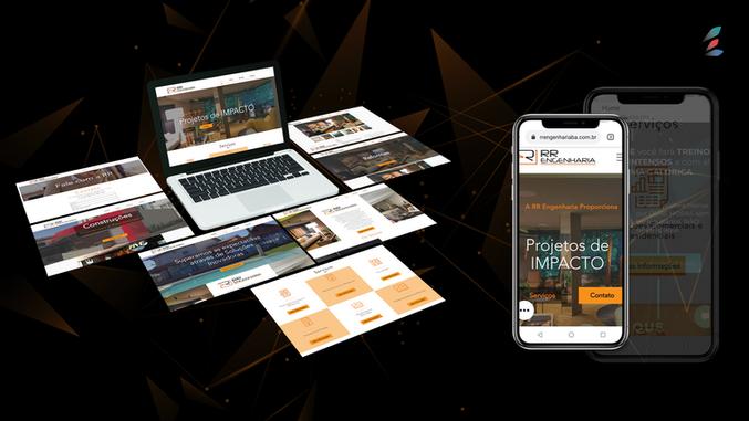 Hot Site desenvolvido para empresa RR Engenharia