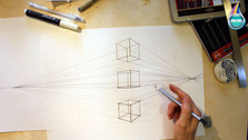 куб в перспективе