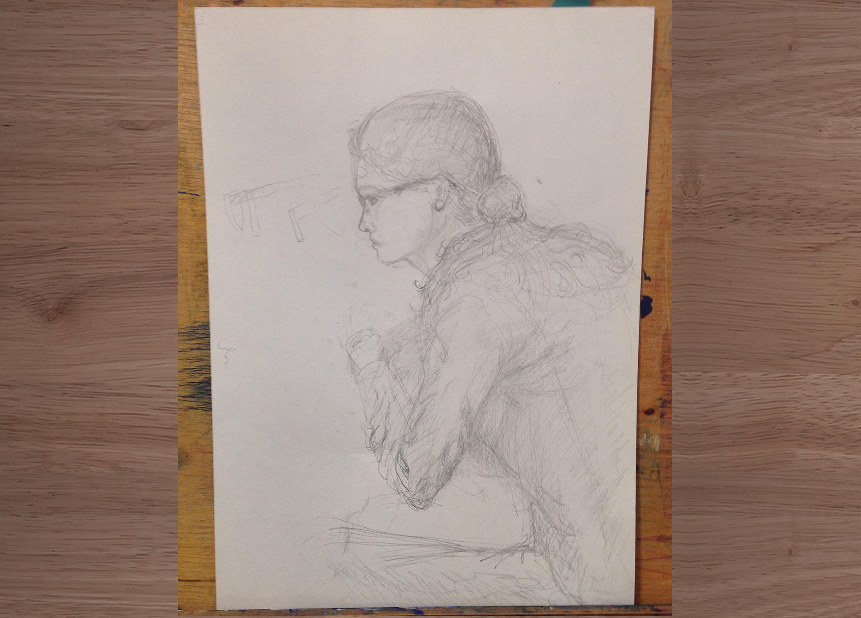 Модель с натуры. Рисование человека