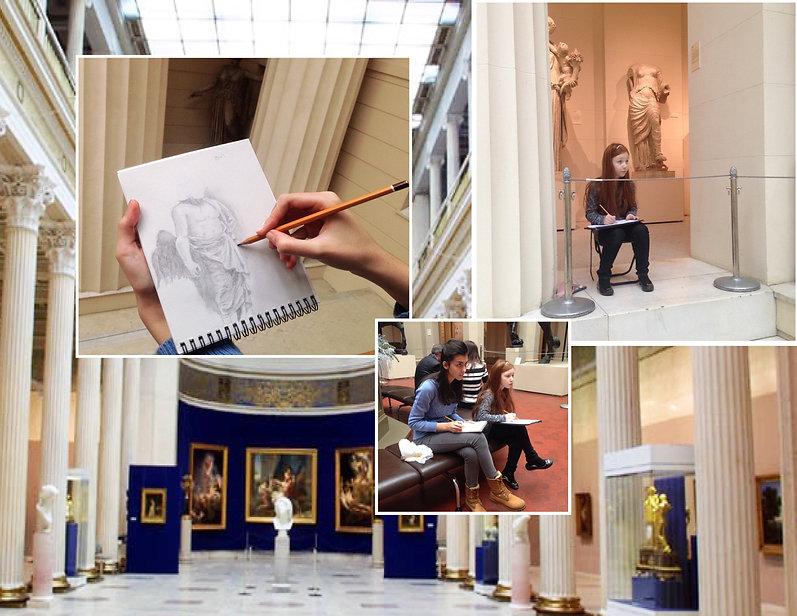 Рисование в музее