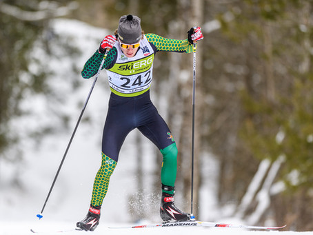 UVM's Ogden and Middlebury's Laukli take opening nordic wins at Colby Carnival