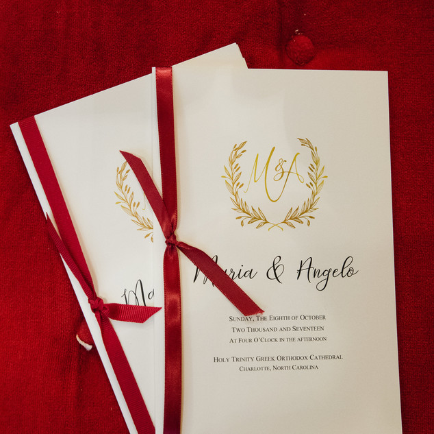 Greek Orthodox Wedding Program