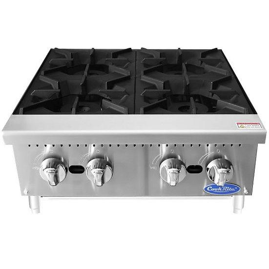 """4-Burner Countertop Hot-Plate 24"""" - ATHP-24-4"""