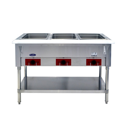 "3-Well Electric Steamtable 44"" - CSTEA-3C"