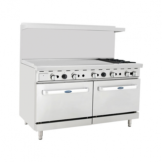 "2-Burner Range w/ 48"" Manual Griddle & Double Oven 60"" - ATO-48G2B"