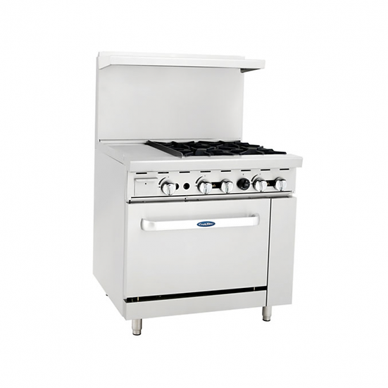 "4-Burner Range w/ 12"" Manual Griddle w/ Single Oven 36"" - ATO-12G4B"