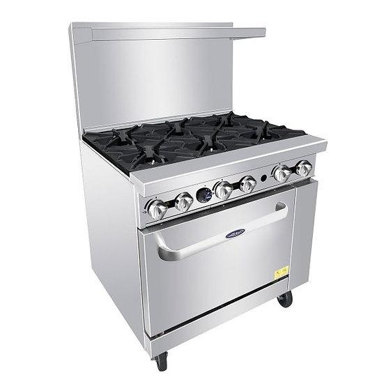 "6-Burner Range w/ Single Oven 36"" - ATO-6B"