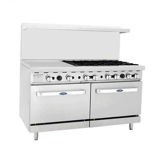 "6-Burner Range w/ 24"" Manual Griddle & Double Oven 60"" - ATO-24G6B"
