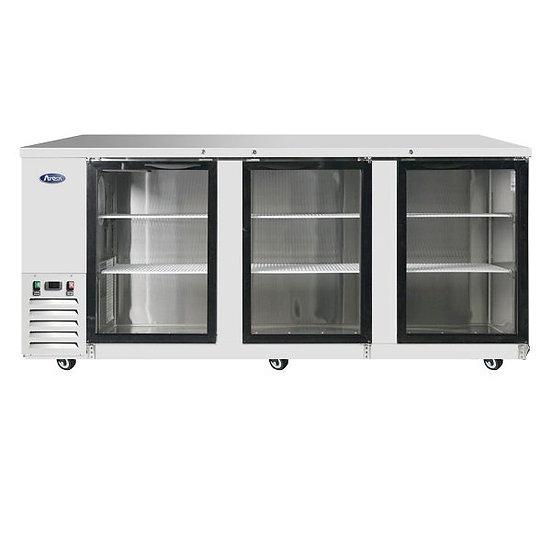 """3-Door Glass Door Back Bar Cooler 90"""" - MBB90G-GR"""