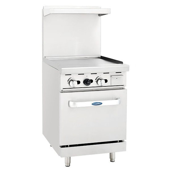 """24"""" Wide Griddle Top Range w/ 20"""" Oven  - ATO-24G"""
