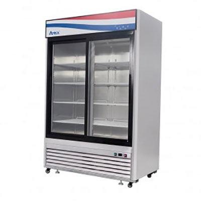 2-Door Glass Door Merchandiser Refrigerator Sliding Door - MCF8709GR